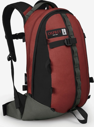 Osprey Rucksack 'Simplex 20' in dunkelgrau / karminrot / schwarz, Produktansicht