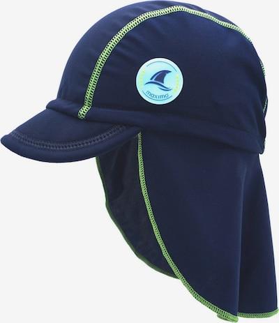 Pălărie MAXIMO pe albastru marin / verde măr, Vizualizare produs