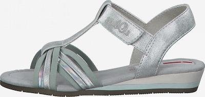 s.Oliver Sandale in pastellgrün / silber, Produktansicht