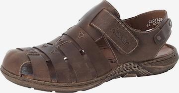 Sandale de la RIEKER pe maro