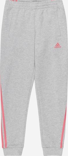 ADIDAS PERFORMANCE Pantalon de sport en gris chiné / rose, Vue avec produit