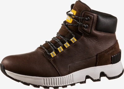 SOREL Boots 'MAC HILL MID LTR WP' in Dark brown / Yellow, Item view