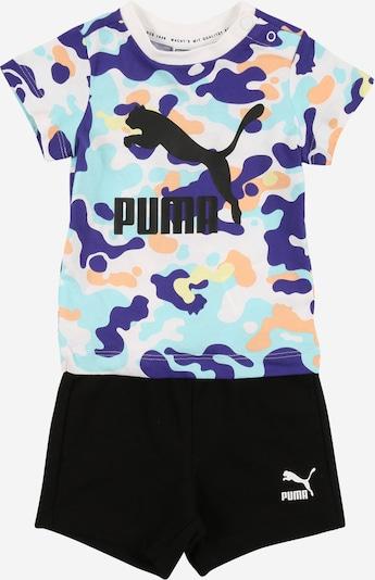 PUMA Set 'Minicats' in hellblau / dunkellila / orange / schwarz / weiß, Produktansicht
