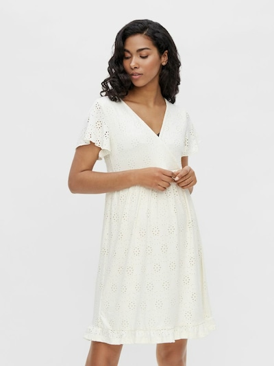 MAMALICIOUS Jurk 'Denise' in de kleur Wit, Modelweergave