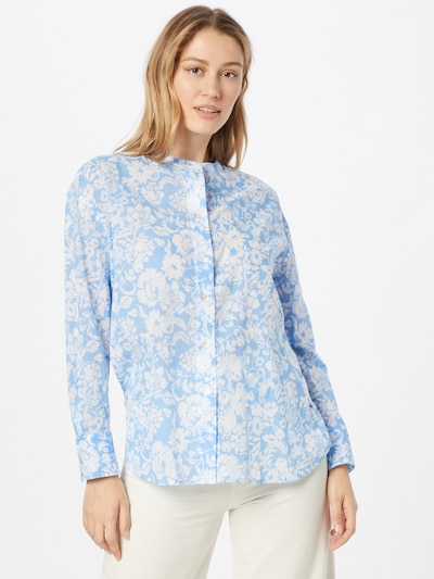 LIEBLINGSSTÜCK Bluse 'Ravna' in hellblau / weiß, Modelansicht