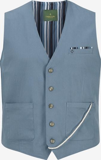 Charles Colby Gilet de costume en bleu-gris / blanc, Vue avec produit