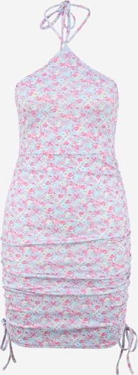 Missguided Petite Kleid in creme / hellblau / rosa / hellpink, Produktansicht