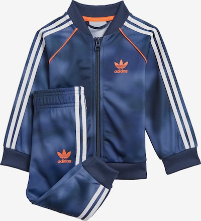 ADIDAS ORIGINALS Trainingsanzug in blau / orange / weiß, Produktansicht