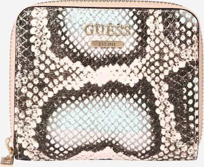GUESS Portemonnee 'Albury' in de kleur Lichtbeige / Kastanjebruin / Poederroze / Zwart, Productweergave