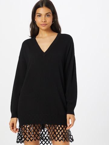 PINKO Gebreide jurk 'PICA' in Zwart
