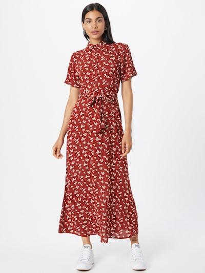 ABOUT YOU Robe-chemise 'Shirin' en crème / bordeaux, Vue avec modèle