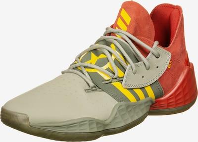 ADIDAS PERFORMANCE Basketballschuhe 'Harden Vol. 4' in gelb / grau / pastellrot, Produktansicht