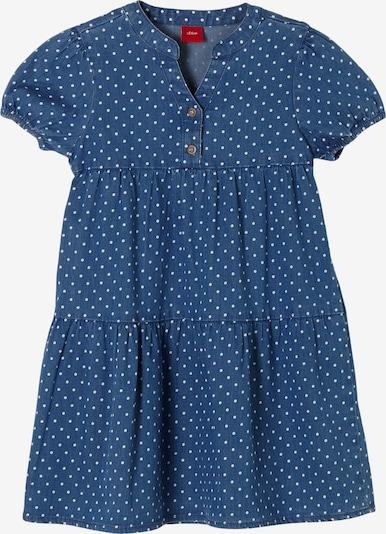 s.Oliver Kleid in blue denim / weiß, Produktansicht