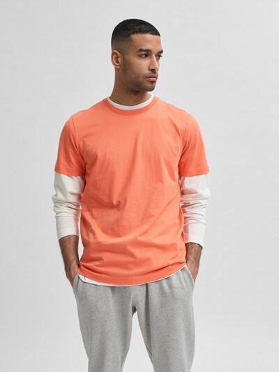 SELECTED HOMME T-Krekls 'Norman 180', krāsa - koraļļu: Priekšējais skats