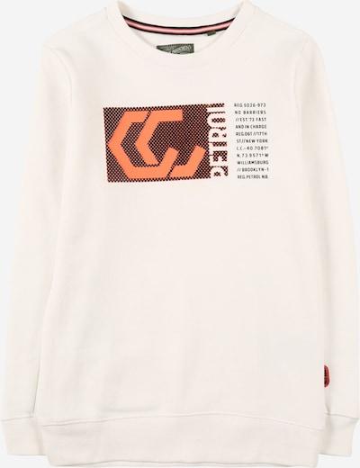 Bluză de molton Petrol Industries pe portocaliu / negru / alb, Vizualizare produs
