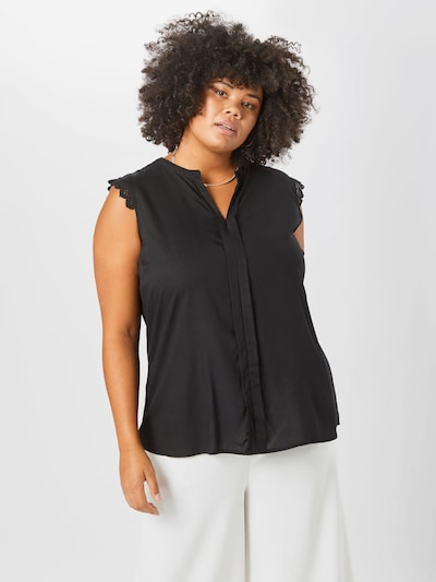 ONLY Carmakoma Top 'Mumi' in schwarz: Frontalansicht
