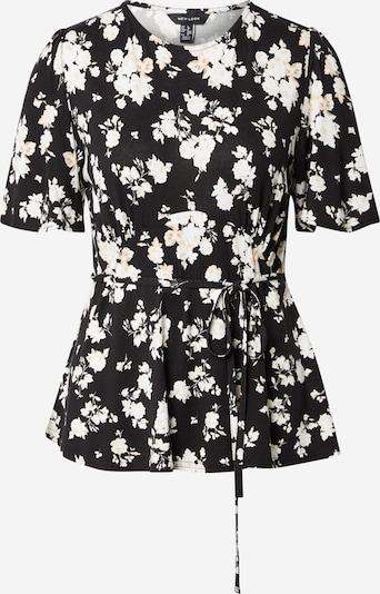 NEW LOOK Bluse in beige / schwarz / weiß, Produktansicht