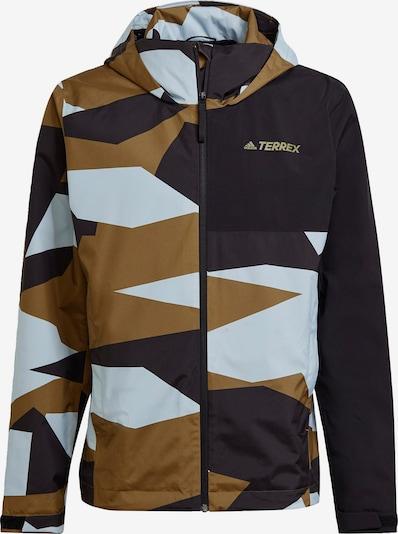 adidas Terrex Regenjacke 'TERREX Multi RAIN.RDY ' in blau / grün, Produktansicht