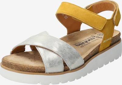 MOBILSergonomic Sandale Tamia in senf / silber / weiß, Produktansicht
