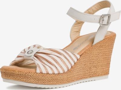 TAMARIS Sandale in beige / gold / weiß, Produktansicht