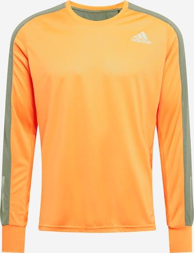 ADIDAS PERFORMANCE Funkcionalna majica | siva / oranžna / bela barva, Prikaz izdelka