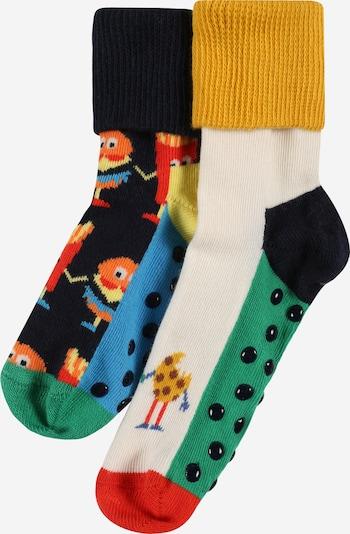 Happy Socks Sockor 'Food Friends' i senap / grön / hallon / svart / vit, Produktvy