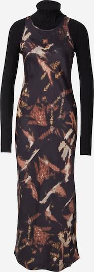 AllSaints Robe en crème / chamois / jaune foncé / noir, Vue avec produit
