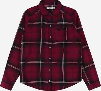 Abercrombie & Fitch Blūze, krāsa - tumši sarkans / melns / balts, Preces skats