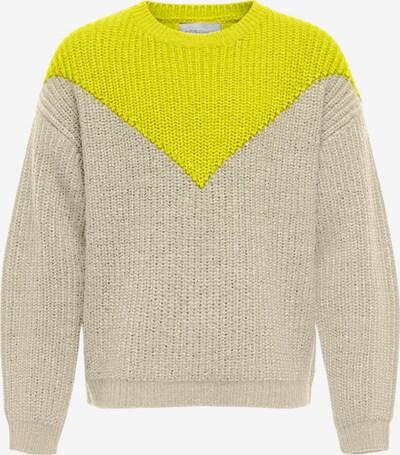 KIDS ONLY Sweter w kolorze żółty / szarym, Podgląd produktu