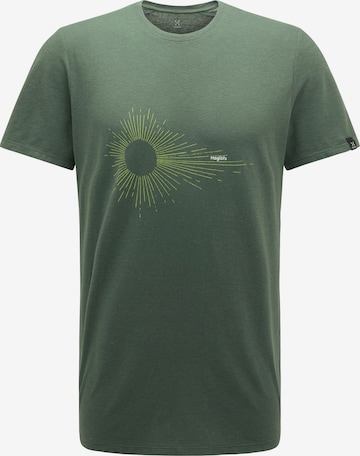 T-Shirt fonctionnel 'Träd Print' Haglöfs en vert