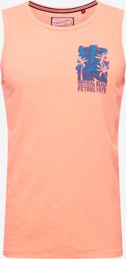 Petrol Industries Shirt in de kleur Duifblauw / Hemelsblauw / Oranje gemêleerd, Productweergave