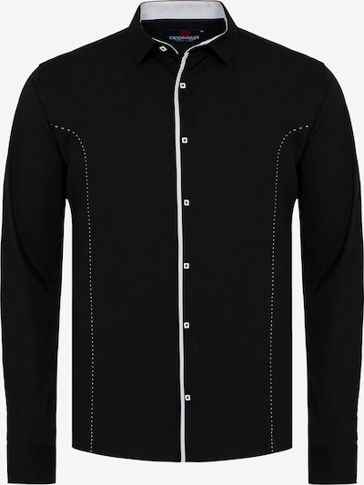 CIPO & BAXX Hemd MARCO mit Kontrast-Saum und Knopfleiste in schwarz, Produktansicht