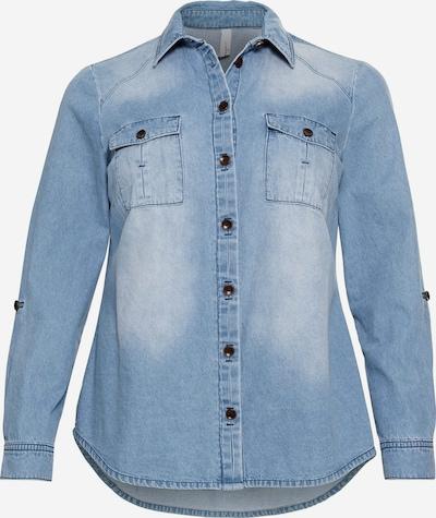 SHEEGO Bluse in blue denim, Produktansicht