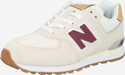 Sneaker new balance pe bej / bej deschis / roșu vin / alb, Vizualizare produs