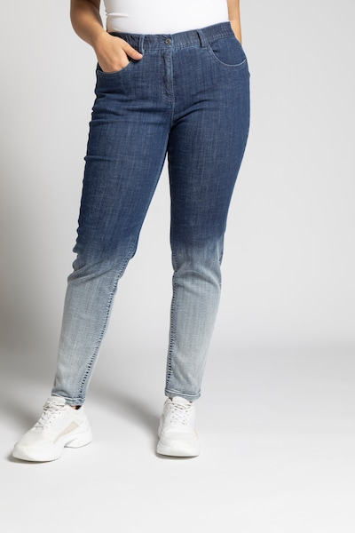 Ulla Popken Jean en bleu denim / blanc denim, Vue avec modèle