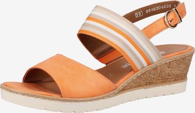 REMONTE Sandale in kitt / orange / hellorange / weiß, Produktansicht