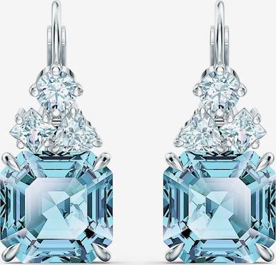 Swarovski Oorbellen 'Sparkling' in de kleur Aqua / Zilver, Productweergave