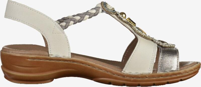 ARA Sandalen met riem 'Haw' in Goud / Zilver / Wit TrGXkxM2
