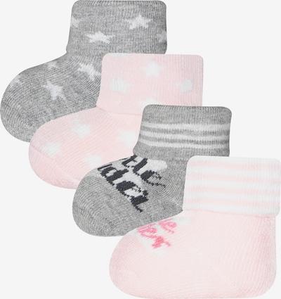 EWERS Socken 'Little Wonder' in grau / rosa / weiß, Produktansicht