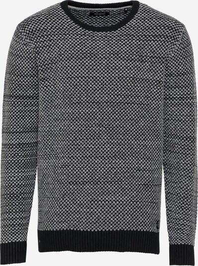 SHINE ORIGINAL Pullover in schwarzmeliert / weiß, Produktansicht