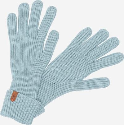 CAMEL ACTIVE Strickhandschuhe aus Baumwolle in hellblau / mint, Produktansicht