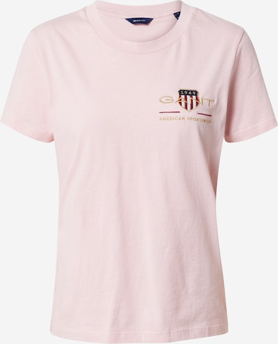 GANT Shirt 'ARCHIVE SHIELD' in de kleur Navy / Goud / Rosa / Bloedrood / Wit, Productweergave