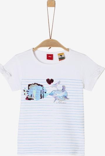 s.Oliver T-Shirt in hellblau / mischfarben / weiß, Produktansicht