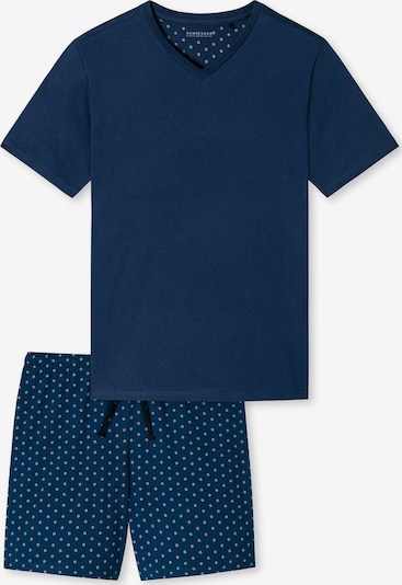 SCHIESSER Pijama corto en marino / rojo / blanco, Vista del producto