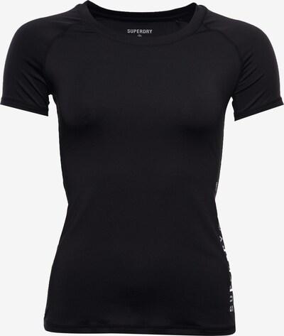 Superdry Functioneel shirt in de kleur Zilvergrijs / Zwart, Productweergave