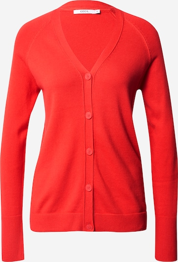 CECIL Knit cardigan in orange red, Item view