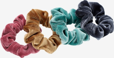 Six Scrunchie in karamell / anthrazit / mint / rosa, Produktansicht
