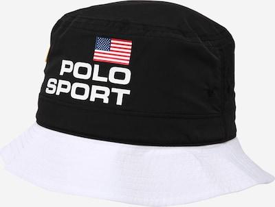 Polo Ralph Lauren Chapeaux en bleu marine / jaune / rouge clair / noir / blanc, Vue avec produit