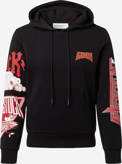 ICEBERG Sportisks džemperis, krāsa - gaiši sarkans / melns / balts, Preces skats