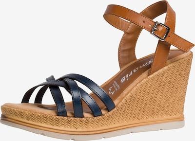 TAMARIS Sandale in dunkelblau / karamell, Produktansicht